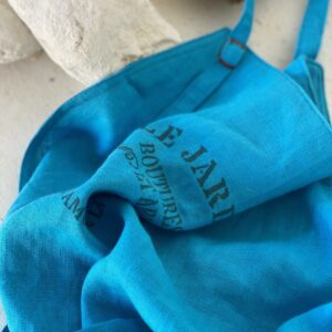 Atelier Costa blue linen aprons made in Spain