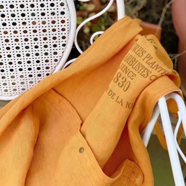 Atelier Costa orange linen apron Spain