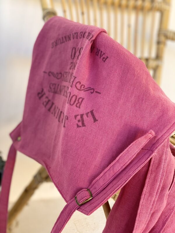 Atelier Costa Pink linen aprons made in Spain