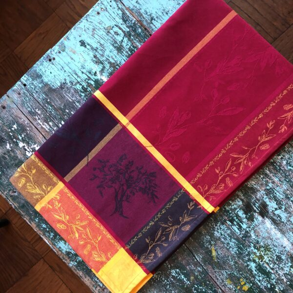 Le Cluny tablecloths Provence Luberon Red