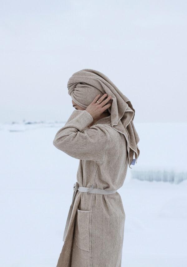 Lapuan Kankurit Kivi linen robe Finland