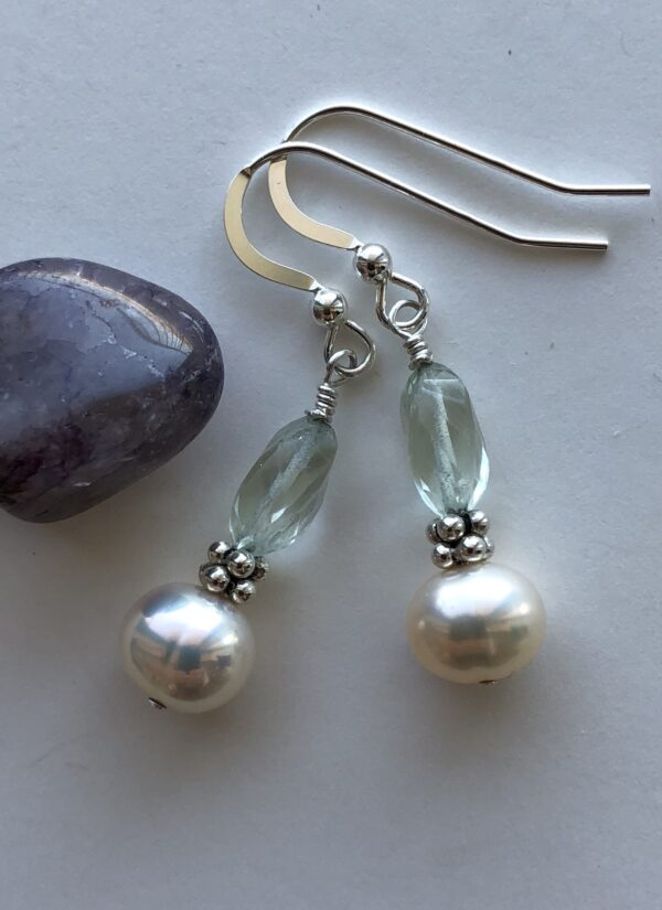 Peace Within jewelry green amethyst pearl sterling