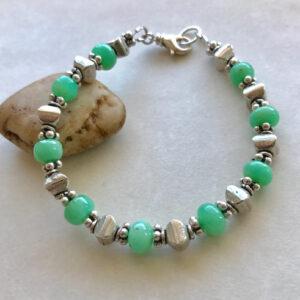 Peace Within jewelry chrysoprase bracelet