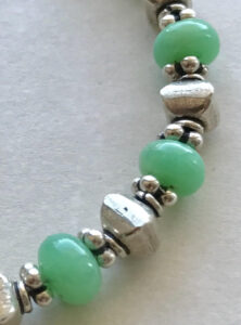 Peace Within jewelry African jade sterling necklace