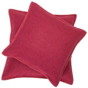 David Fussenegger pillow covers red