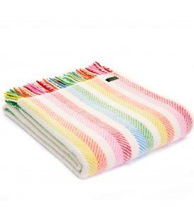 Tweedmill throws wool Wales stripes