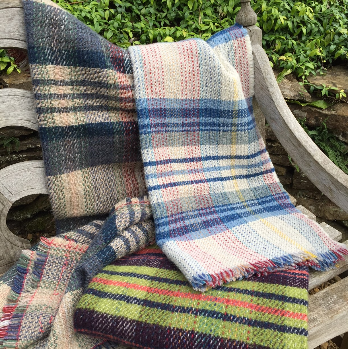 Tweedmill recycled wool throws Wales