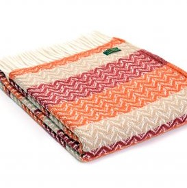 Tweedmill orange throw