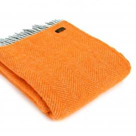 Tweedmill orange wool throw